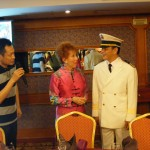 Marilyn meets the captain of the President Prime cruise ship.