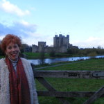 Marilyn in front of the Castle from the movie Braveheart