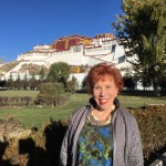 Marilyn with Potala Palace in the background