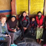 Marilyn with more of the lovely people of Tibet