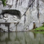 Lion carved in the rock on Lake Lucerne