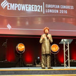 Marilyn speaking at the E21 Conference in London 2016.