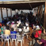 Marilyn teaches on the boat crossing the Sea of Galilee